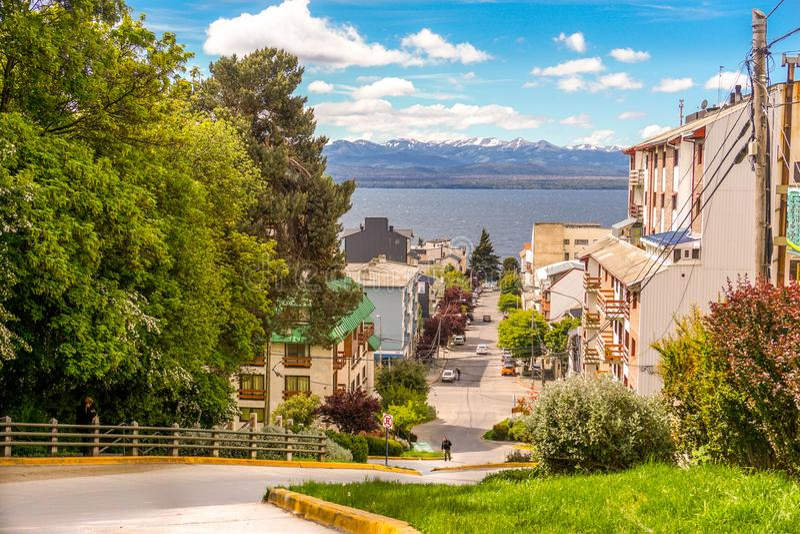 Paisaje hermoso en Bariloche, la Argentina fotos de archivo libres de regalías