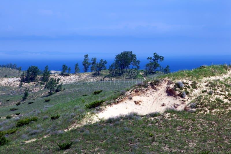 Paisaje hermoso en las dunas Nationa del oso el dormir imagen de archivo