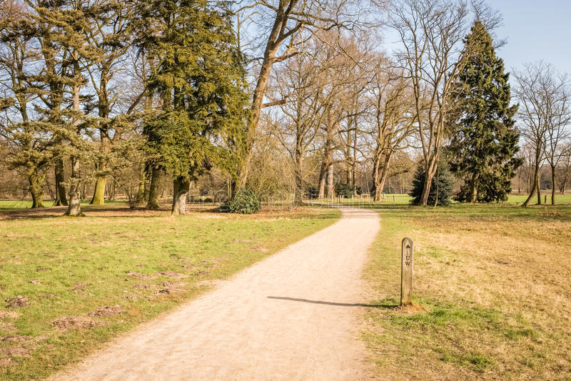 Paisaje holandés típico de la primavera en marzo cerca de Delden Twente, Overijssel fotos de archivo libres de regalías
