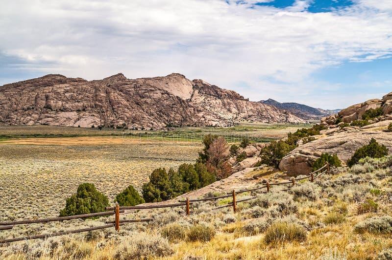 Paisaje impresionante de Wyoming fotografía de archivo
