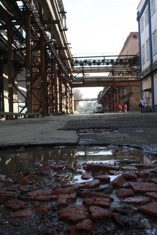 Paisaje industrial fotos de archivo