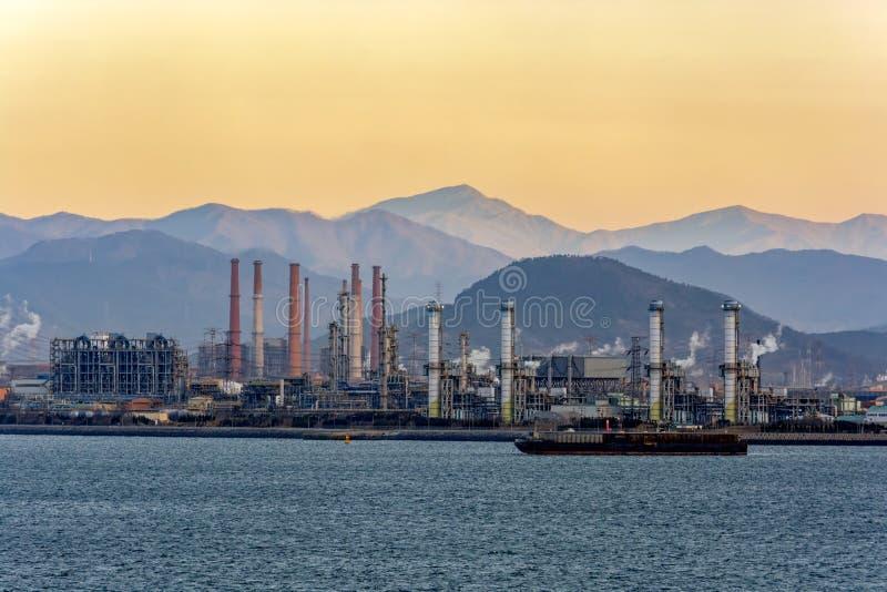 Paisaje industrial en Corea del Sur fotografía de archivo libre de regalías