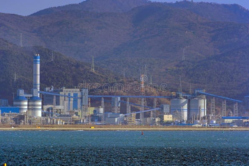 Paisaje industrial en Corea del Sur foto de archivo