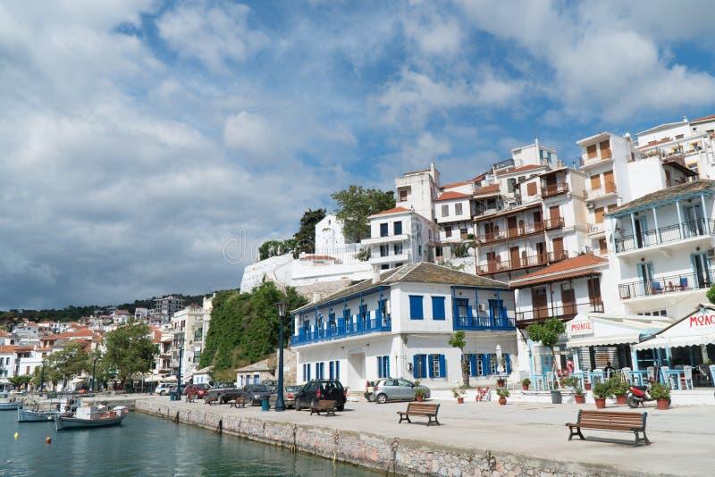 Paisaje interesante de la isla de Skopelos, Grecia imagen de archivo libre de regalías