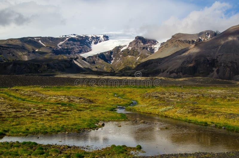 Paisaje islandés maravilloso de la naturaleza foto de archivo