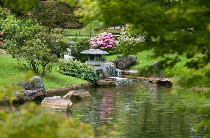 Paisaje japonés del jardín imágenes de archivo libres de regalías