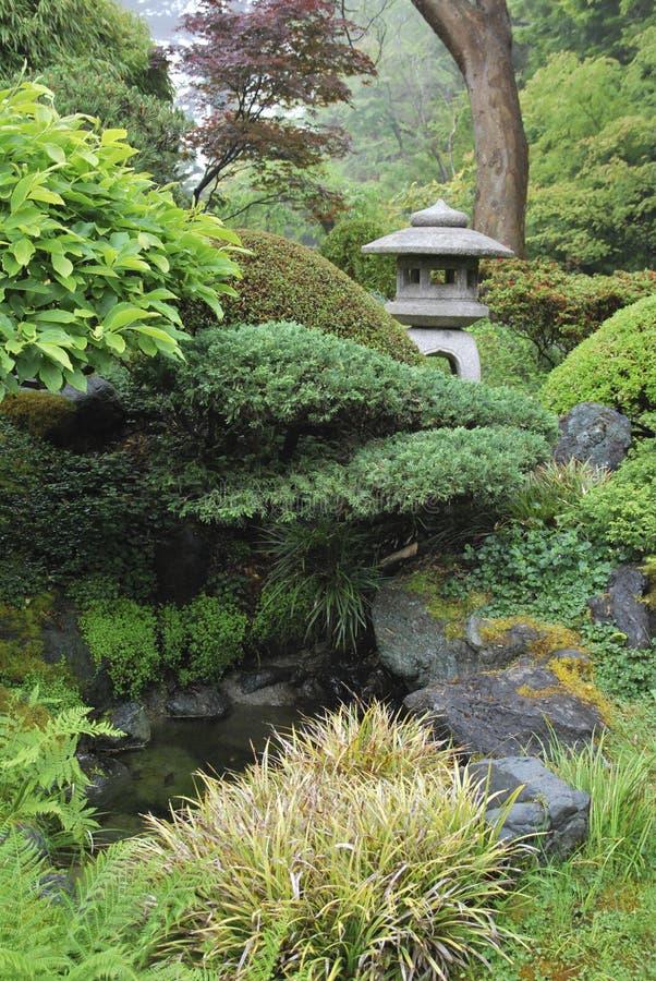 Paisaje japonés en el Golden Gate Park, San Francisco del jardín de té EE.UU. imagenes de archivo