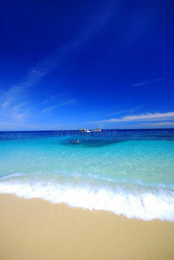Paisaje llano de la playa foto de archivo