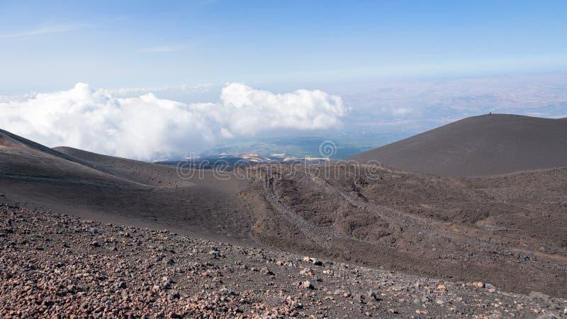 Download Paisaje Lunar Del Monte Etna Imagen de archivo - Imagen de desierto, camino: 100532177