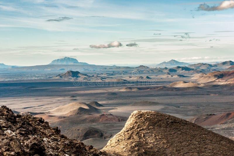 Paisaje lunar en Islandia imágenes de archivo libres de regalías
