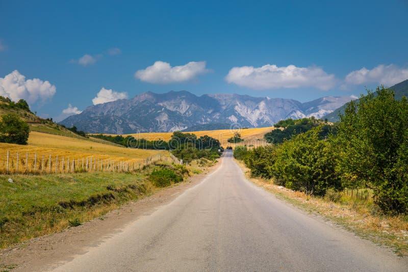 Paisaje majestuoso de las montañas y del bosque en el Cáucaso en el verano Cielo dramático con las nubes fotos de archivo