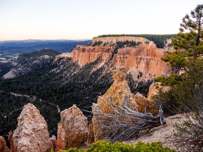 Paisaje maravilloso en Bryce Canyon National Park en Utah fotos de archivo