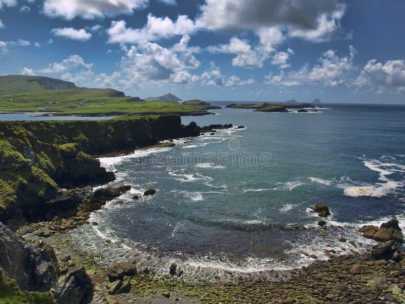 Paisaje marino, anillo del kerry, isla del skellig, Irlanda imágenes de archivo libres de regalías