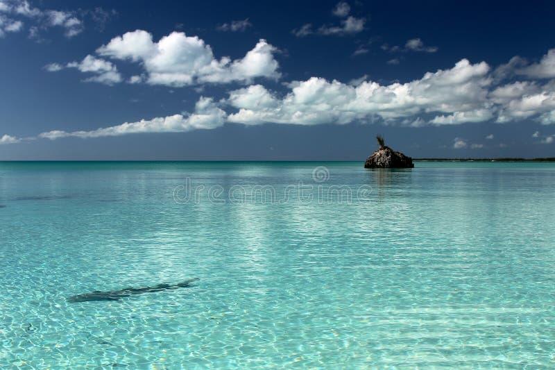 Paisaje marino de Bahamas fotografía de archivo libre de regalías