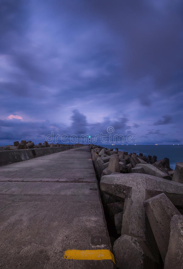 Paisaje marino de la bahía de Richards fotos de archivo