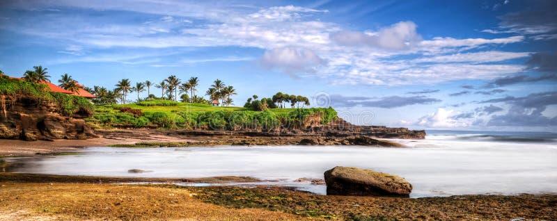 Paisaje marino de la mañana de la playa de Bali imagen de archivo