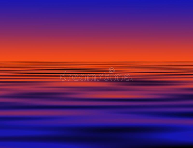 Paisaje marino de la noche libre illustration