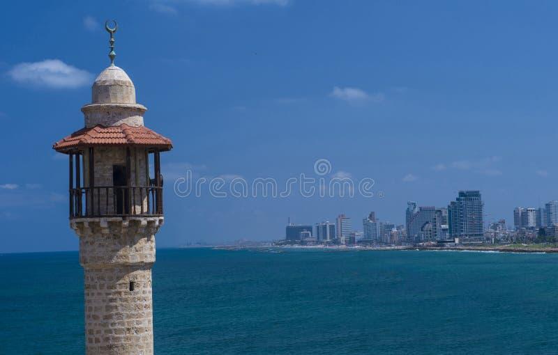 Paisaje marino de Tel Aviv imágenes de archivo libres de regalías