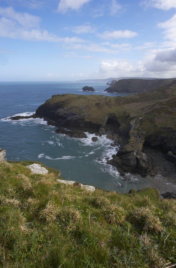 Paisaje marino de Tintagel imagen de archivo