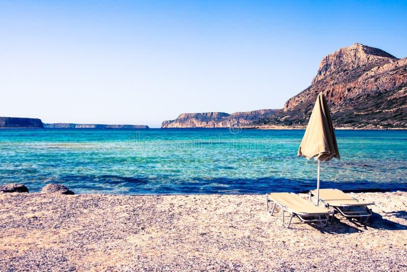paisaje marino de una playa de la bahía de Balos, arcilla, Grecia foto de archivo
