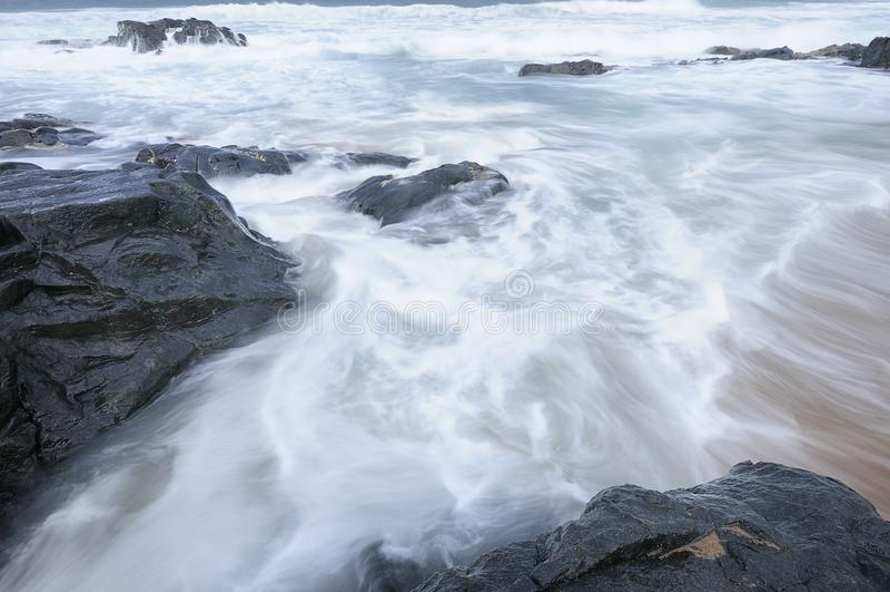 Paisaje marino en Kwazulu Natal, Suráfrica imagenes de archivo