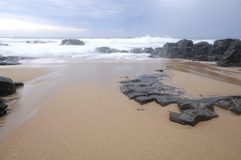 Paisaje marino en Kwazulu Natal, Suráfrica fotografía de archivo libre de regalías