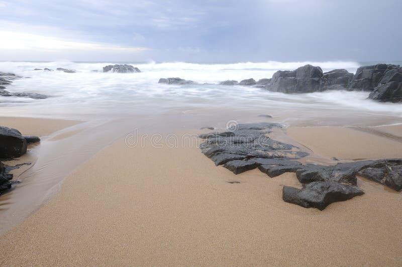 Paisaje marino en Kwazulu Natal, Suráfrica foto de archivo libre de regalías