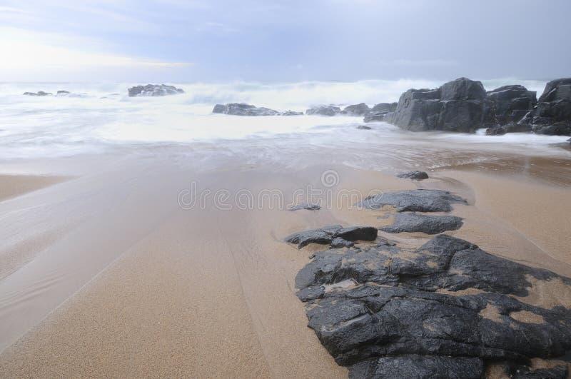 Paisaje marino en Kwazulu Natal, Suráfrica imagen de archivo libre de regalías