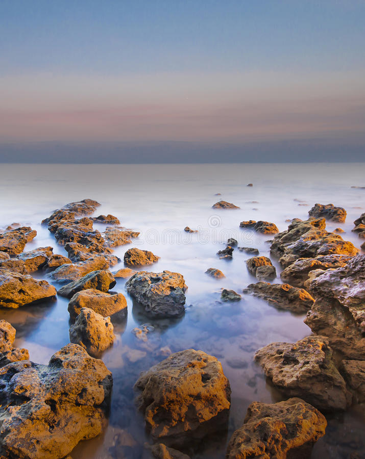 Paisaje marino hermoso del invierno fotos de archivo libres de regalías