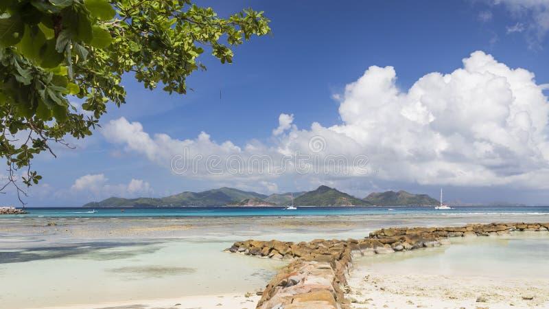 Paisaje marino hermoso, Seychelles imagen de archivo libre de regalías