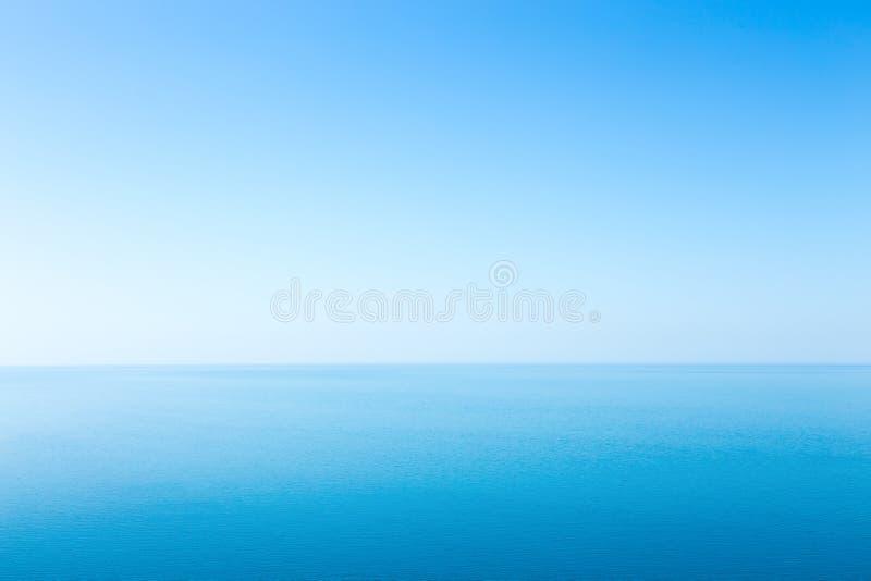Paisaje marino hermoso sin las nubes foto de archivo libre de regalías