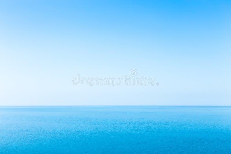 Paisaje marino hermoso sin las nubes fotografía de archivo libre de regalías
