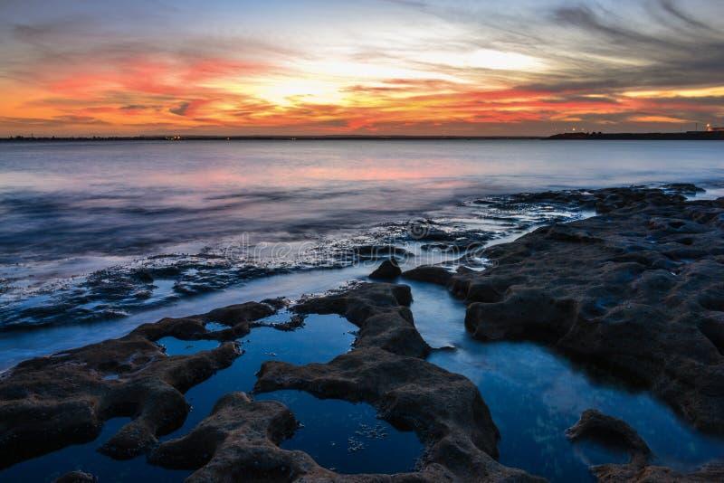 Paisaje marino hermoso Sydney, Australia fotos de archivo