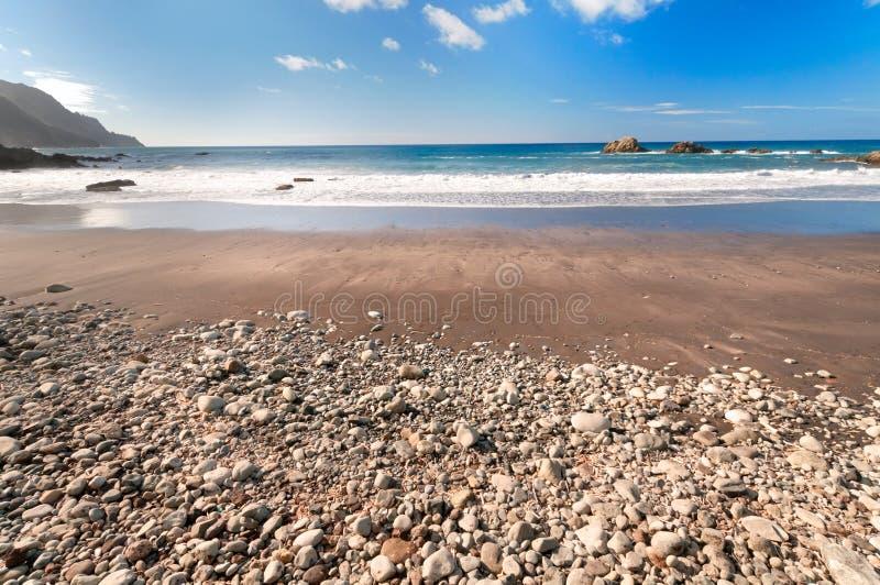 Paisaje marino, Lanzarote, islas Canarias, España fotos de archivo libres de regalías