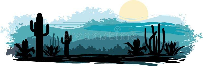 Paisaje mexicano stock de ilustración