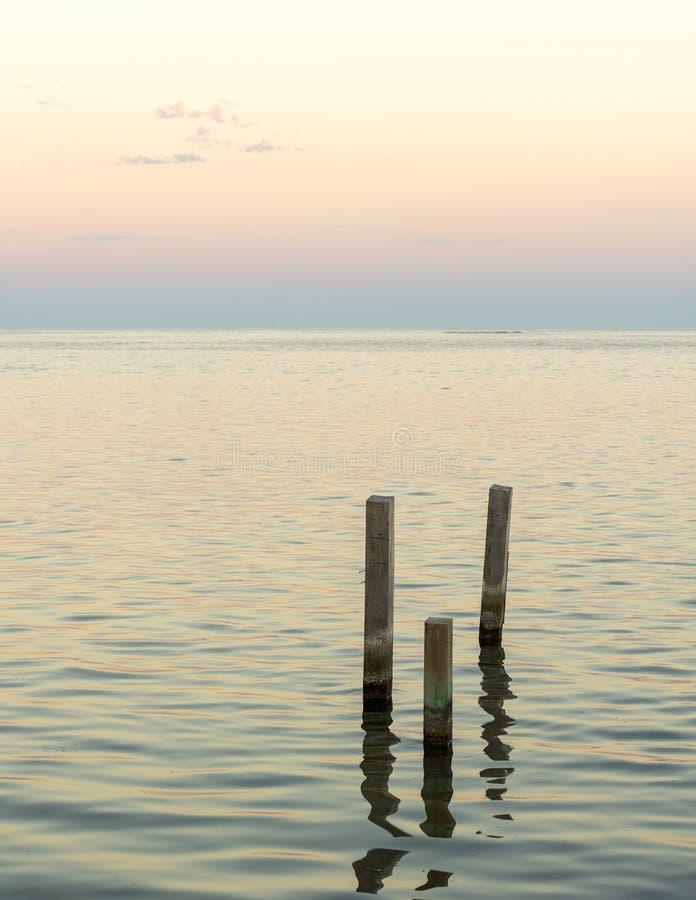 Paisaje minimalista del océano foto de archivo libre de regalías