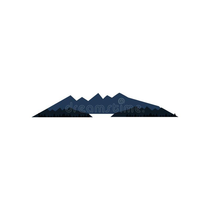 Paisaje minimalista simple plano de la montaña libre illustration