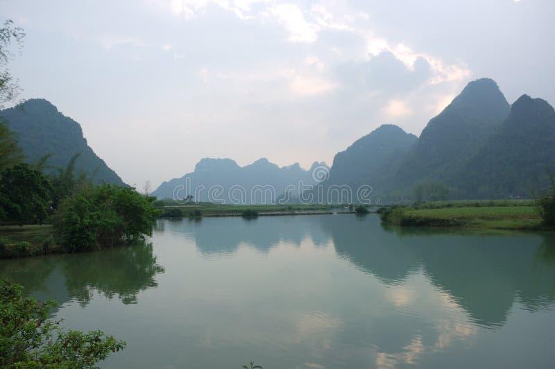 Paisaje montañoso de Cao Bang fotografía de archivo