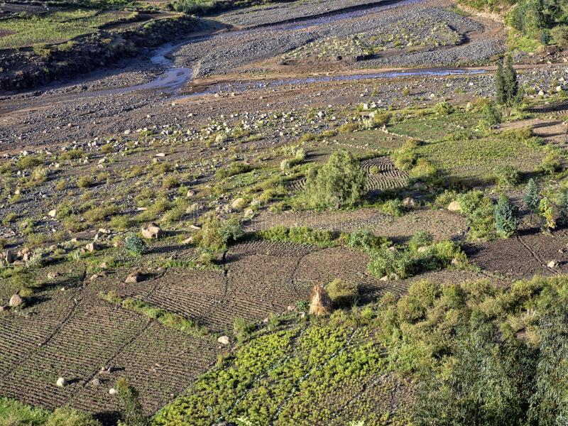 Paisaje montañoso en Etiopía septentrional imagen de archivo