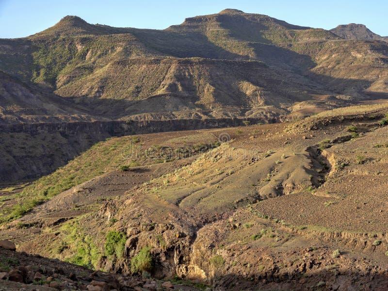 Paisaje montañoso en Etiopía septentrional fotos de archivo