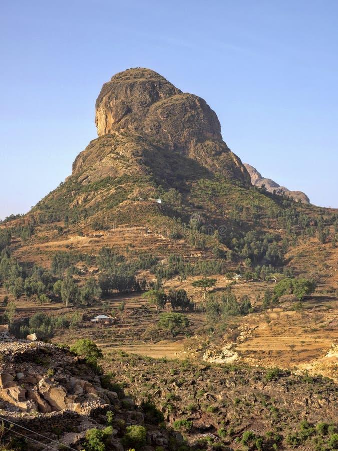 Paisaje montañoso pintoresco en Etiopía imágenes de archivo libres de regalías