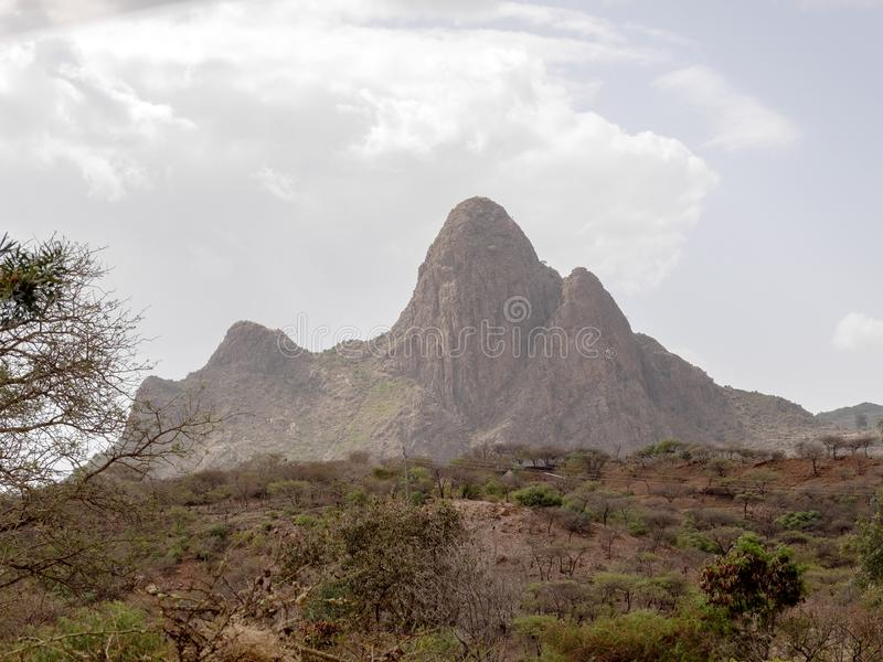 Paisaje montañoso pintoresco en Etiopía imagen de archivo libre de regalías
