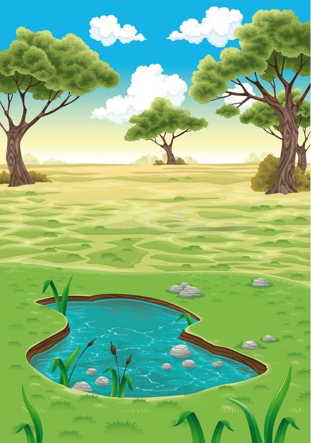 Paisaje natural. ilustración del vector