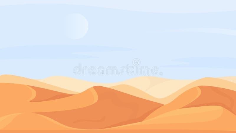 Paisaje Natural Del Desierto En áfrica Dibujos Animados Paisajes Desiertos En El Clima De Calor Estival Escena Del Sahara Ilustración Del Vector Ilustración De Verano Desierto 196484720