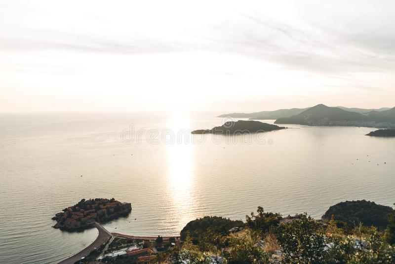 Paisaje natural en Montenegro imagen de archivo libre de regalías