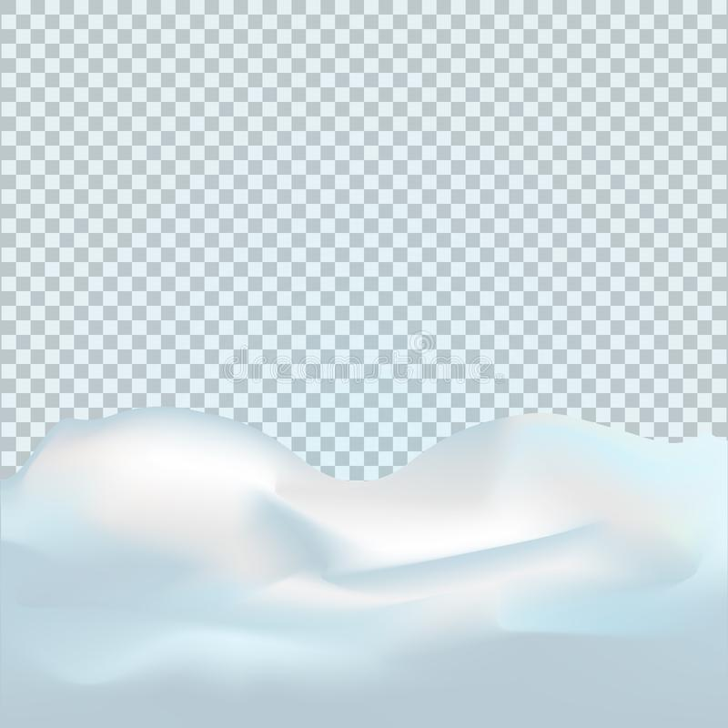Paisaje Nevado aislado en fondo transparente oscuro Ejemplo del vector de la decoración del invierno Fondo de la nieve snowdrift libre illustration