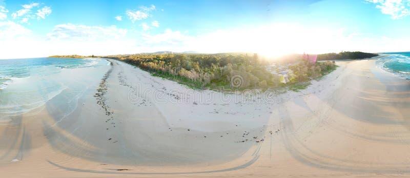 Paisaje panorámico de Woolgoolga fotos de archivo