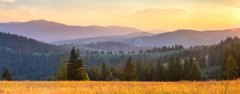Paisaje panorámico del otoño foto de archivo