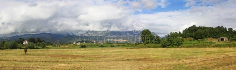 Paisaje panorámico en Albania imágenes de archivo libres de regalías