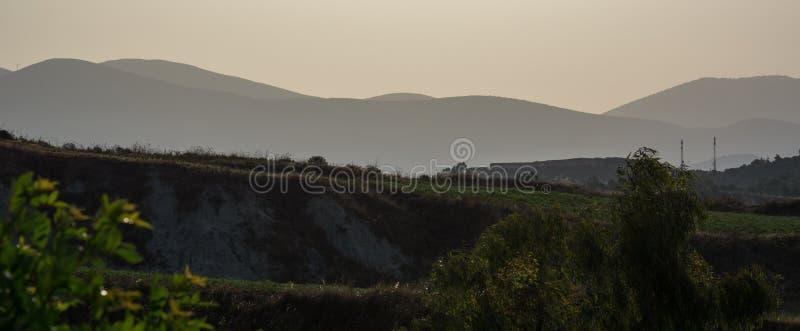 Paisaje panorámico Kefalonia Grecia imagenes de archivo